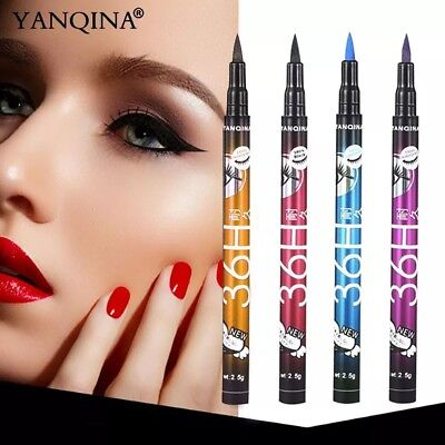 4 Colors Black 36H Eyeliner Pencil Waterproof Pen Long-lasting Liquid Eye Liner