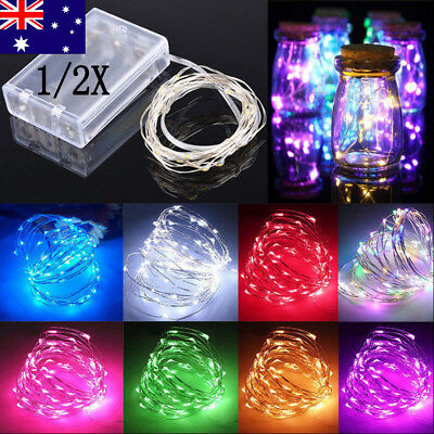 AU 4/5/10M Battery Powered Copper Wire String Fairy Xmas Party Lights Warm White
