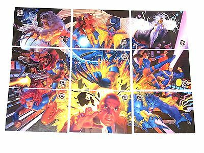 1994 Fleer Ultra X-Men TEAM PORTRAIT INSERT chase 9 CARD Set! WOLVERINE STORM!