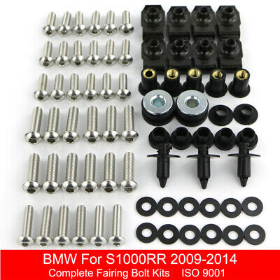 BMW K1300R 2008-2015 BLACK STAINLESS STEEL SCREEN BOLT KIT