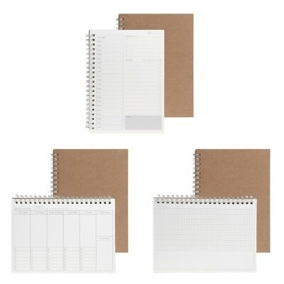 Planner Book Monthly Weekly Daily Agenda Schedule Blank Diary DIY Study*Notebook