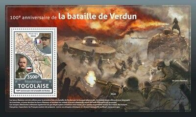Z08 TG16602b Togo 2016 Battle of Verdun MNH Mint