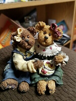 boyds bears the bearstone collection edie and geri a week of sundaes