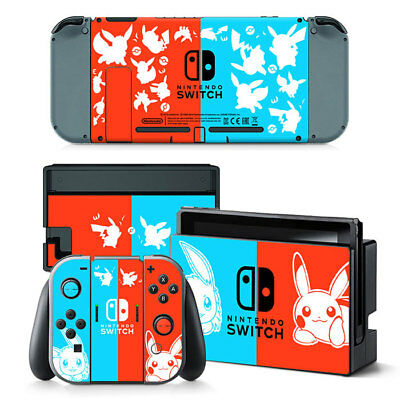 For Nintendo Switch Sticker Skin Pokemon Console Controllers Decal Vinyl Cover