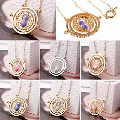 Harry Potter Time Turner Hermione Granger Spin Hourglass Pendant Necklace Gift