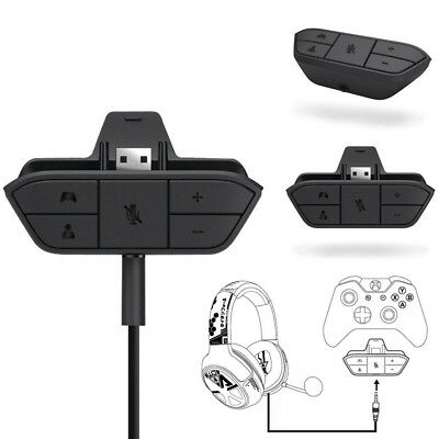 Stereo Headset Headphone Audio Game Adapter For Microsoft Xbox One Controller DR