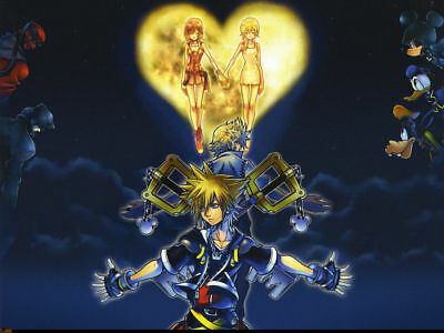 Kingdom Hearts Art Silk Poster 8x12 24x36 24x43