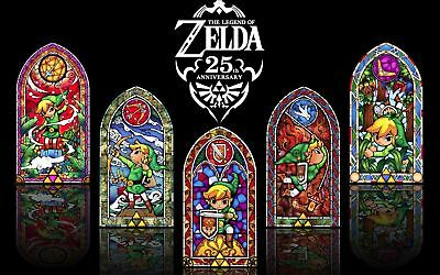 The Legend of Zelda Stained Glass Art Silk Poster 8x12 24x36 24x43