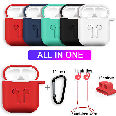 Pouch Silicone Case Cover Anti-lost Wire Protective Skin For Apple AirPods