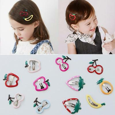 2x Girls Baby Cute Fruit Hair Clips Snaps Hairpin Kids Hair Accessories New