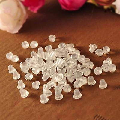 600pcs Rubber Earring Back Stoppers Ear Post Nuts Jewelry Findings Fashion v