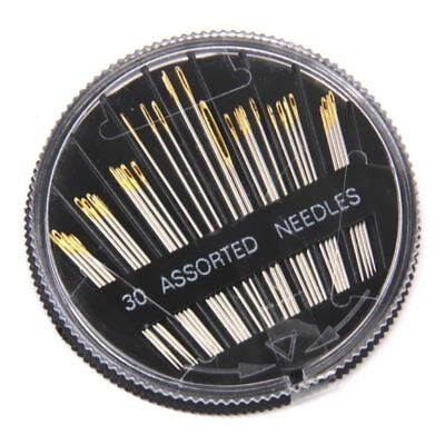 New 30pcs Assorted Hand Sewing Needles Embroidery Mending Craft Quilt Sew Case