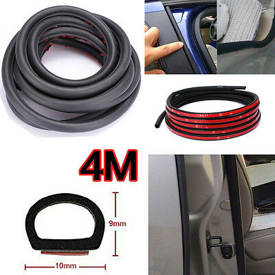 4M Small D-shape Door Window Rubber Seal Strip Weatherstrip For Car Truck Motor