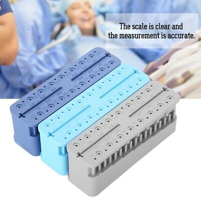 Dental Endo Measuring Block Tool Endodontic Ruler Dental Root Ruler Autoclavable