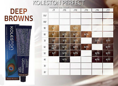 WELLA KOLESTON PERFECT - Deep Browns - Permanent Hair Colour 60ml FREE 1ST POST