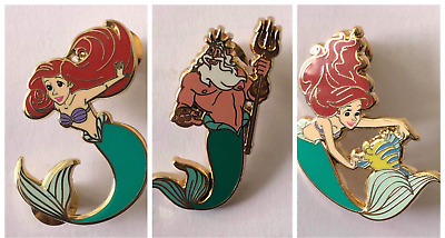 NEW Disney HotArt  PART OF YOUR WORLD LE200 4 Pin Set LITTLE MERMAID Ariel