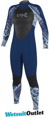 35b8090d3c 2018 O  39 Neill Youth Girls Epic 4   3mm Cremallera trasera GBS Wetsuit  Azul ma