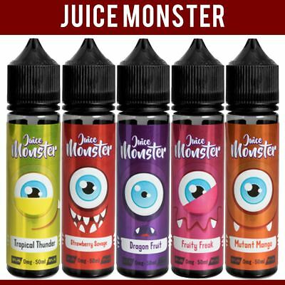 Juice Monster 50ml All New Fruity Favours Vape juice 0mg +/- Nic Shot Eliquid