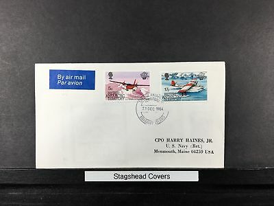British Antarctic Territory Cover 1984 200th Anniversary Manned Flight Air Mail