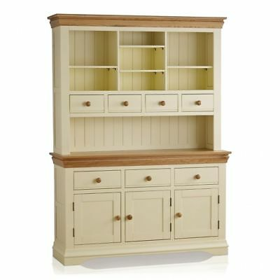 COUNTRY COTTAGE  Natural Oak & Painted  Large Dresser