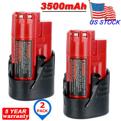 2X For Milwaukee 48-11-2430 M12 LITHIUM 2.5AH Battery Pack 48-11-2420 48-11-2402