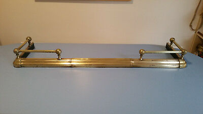 Adjustable Brass Fireplace Fender 25 00 Picclick Uk