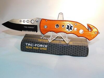 Tac-Force Orange EMT Tactical Out Door Hunting/Survival Pocket Knife TF-498OE