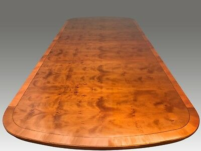 Gorgeous 9ft Harrods of London Regency style Burr Yew tree pro French polished