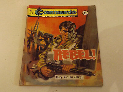 Commando War Comic Number 410 !!,1969 Issue,v Good For Age,50 Years Old,v Rare.