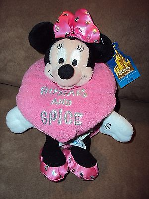 Minnie Mouse Pink Sugar & Spice Heart Disney stuffed plush Valentine's Day 2003