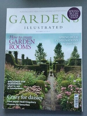 GARDENS ILLUSTRATED October 2013 - No 202 - Spring Bulbs, Garden Rooms, Daisies