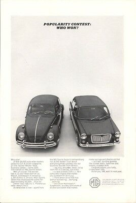1964 Vintage Ad MG Won the Popularity Contest