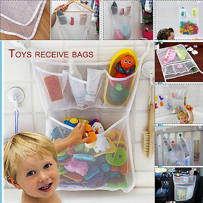Kids Bath Mesh Bag Tidy Tub Toys Net Baby Storage Pouch Organiser Suction Cup UK