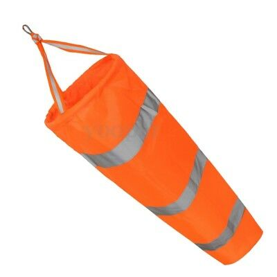 1X(80cm Aviation Windsock Rip-stop Wind Measurement Sock Bag + Reflective B U0F3