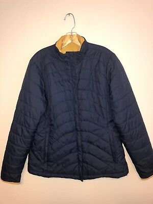 Lands End Youth Medium 10-12 Jacket Blue And Yellow