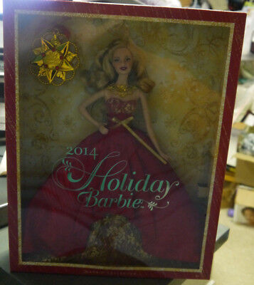 2014 Holiday Blonde Barbie Red Dress The Barbie Collector Series -NIB