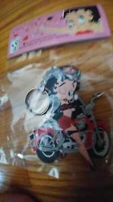 Key Chain-Motor Cycle Betty-BETTY BOOP-NEW in Sealed Bag-Great Gift-Hard to Find
