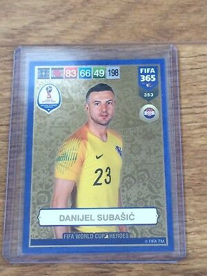 Danijel Subasic 2019 Panini Adrenalyn Xl Fifa 365 Fifa World Cup Heroes W/code#
