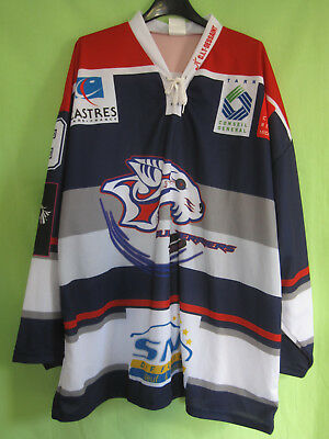 Maillot Hockey Castres Bull Terriers Jersey Vintage CIT DESSAINT Tarn - XL