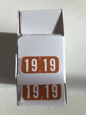 tab products 1287-19 year label brown Smead , Jeter medical charts, dental
