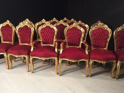 Stunning sets 8,10,12,14,16,18 plus Gold Louis XVI Palace style dining chairs