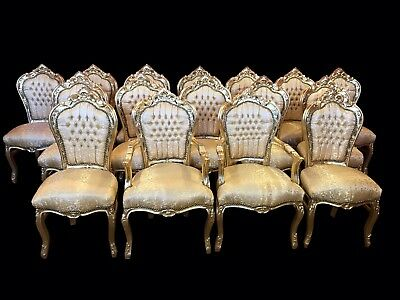 Amazing sets 8,10,12,14,16,18 plus Gold Louis XVI Palace style dining chairs