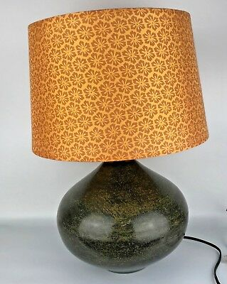 Pier 1 Imports Vintage Style Table Lamp Metal Green Patina Mid