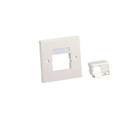 Panduit CFPUKS2SAWY 86x86 Single Gang Faceplate shuttered module PACK OF TEN