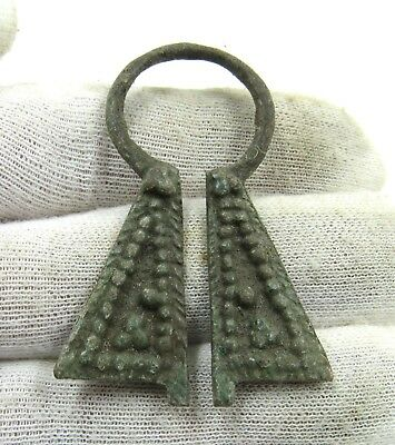 Authentic Medieval Viking Bronze Penannular Omega Brooch - H961