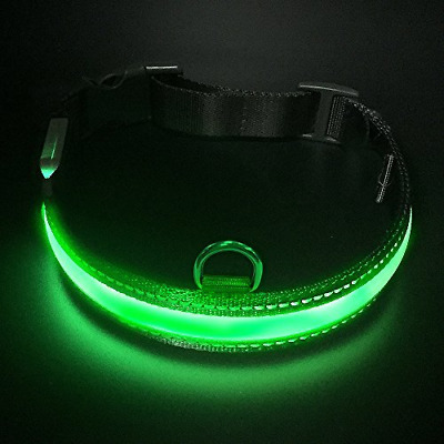 Led Dog Safety Collar, LaRoo™ Flashing LED Dog Safety Collar Nylon Luminous Dog
