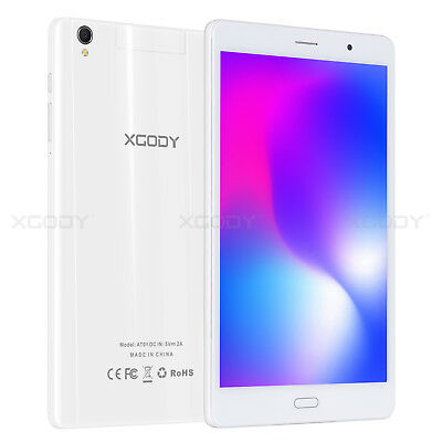 """XGODY 16GB 8"""" 4G LTE Tablet PC Android 6.0 Phablet GPS Quad-core Type-c White"""