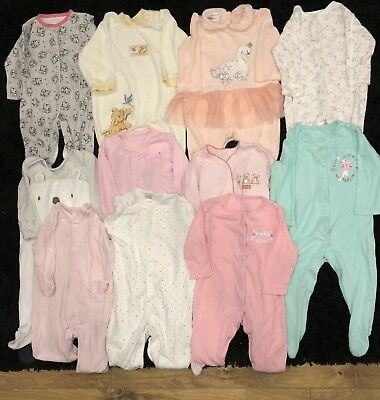 3-6 Month Baby Girl Bundle Sleepsuits