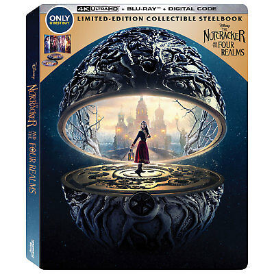 The Nutcracker and the Four Realms (English)  Best Buy(SteelBook) 4K+Blu-Ray+Dig
