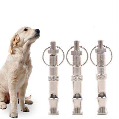 Stainless Steel Ultrasonic Sound Whistle for Dog Training Alloy Key Buckle